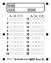ZipGrade: Answer Sheet Forms